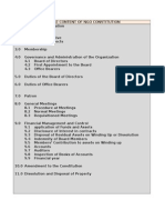 Sample Content of Ngo Constitution