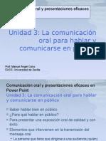 Comunicación oral para hablar en público