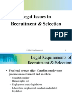 Legal Issues in Recruitment and Selection