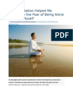 How Meditation Helped Me Overcome the Fear of Being Alone and Find Myself