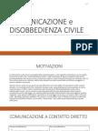 Comunicazione e Disobbedienza Civile