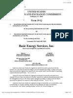 Basic Enery Services - 10Q - 03-31-15