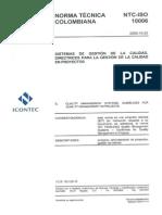 Iso 10006 2003 Sistemas de Gestion de La Calidad de proyectos Directrices