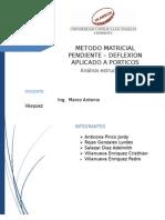 MÉTODO DE PENDIENTE DEFLEXION - ANALISIS ESTRUCTURAL I