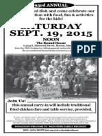 2015 McDuffee Family Reunion Flyer