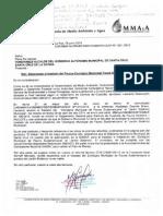 Tercera carta del MMAyA a la Alcaldía cruceña