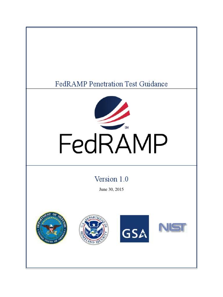 Fedramp Penetration Test Guidance Cloud Computing Cyberwarfare
