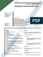 ABNT NBR 6034 - Preparacao de Indice de Publicação - Procedimento
