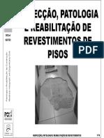 13b 14b Patologia Diagnostico Reabilitacao Revestimentos Pisos as PeB
