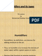 7th Lecture - Humidifiers and Its Types