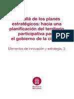Más Allá de Los Planes Estratégicos - Diputación de Barcelona - 2013