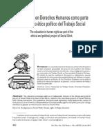 La Formación en Derechos Humanos Como Parte Del Proyecto Ético Político Del Trabajo Social