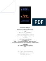 Sigmund Freud _Dream Psychology. Psychoanalysis for Beginners