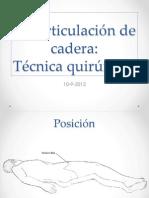 Desarticulación de Cadera - técnica quirúrgica