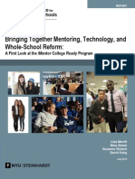 Bringing Together Mentoring Technology and Whole School Reform