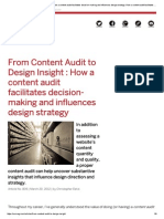 From Content Audit to Design