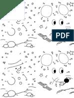 Unir Los Números y Formar El Dibujo