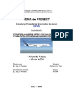 Aircraft Structures and Stability Project Stefanovici Vlad Group 931NA