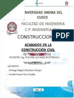 Acabados en obras de construcción civil