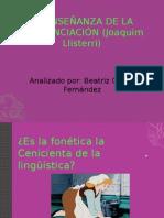 Beatriz García La Enseñanza de La Pronunciación (Joaquim Llisterri(1)