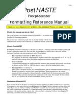 PostHASTE for GibbsCAM 2005 - Format Reference Manual