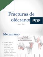 Fracturas de olécranon - tratamiento quirúrgico