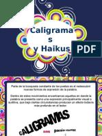 Caligramas y Haikus
