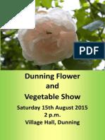 Flower Show Schedule 2015