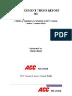 ACC Cement Lakheri