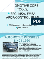 CQI Wessex ISO-TS CORE TOOLS Presentation John Skinner 11Dec12