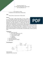 Study of Reverse Charracteristics of Zener Diode