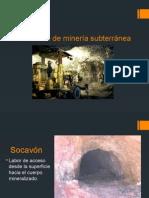 Elementos de Una Mina Subterranea