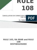 Rule 108 Powerpoint