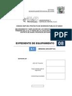 (PEND) 8.1_MED-450-0A_EXR-004-022-012_Memoria Descriptiva Equipamiento