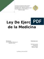 Ley de Ejercicio de La Medicina (diferencias)