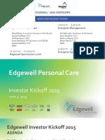 ENR EHP Edgewell Investor Day 2015 Full Mtg FINAL