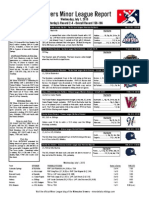 Minor League Report 15.07.01
