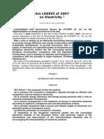 Hungarian Electricity Act LXXXVI 2007 ENG