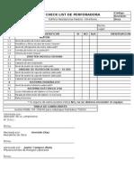 Check List de Perforadora Muro Pantalla