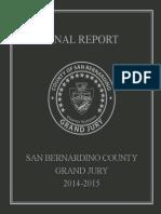 San Bernardino Grand Jury 2014-2015 Final Report
