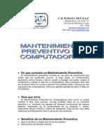 Consejos para el mantenimiento de pc