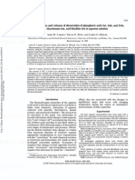 Heat Capacities and Volumes of Dissociation of Phosphoric Acid