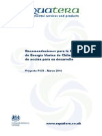 Recomendaciones Para La Estrategia de Energia Marina de Chile - Un Plan de Acci n Para Su Desarrollo Online Version