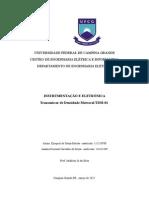 Relatório Transmissor de Densidade TDM-01