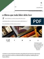 12 Libros Que Todo Líder Debe Leer - Forbes México
