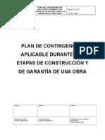 PLAN DE CONTINGENCIAS APLICABLE DURANTE LAS ETAPAS DE CONSTRUCCIÓN Y DE GARANTÍA DE UNA OBRA.docx