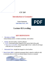 Lecture 02 Levelling (CH 4-5)