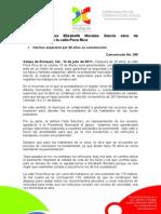 13-07-2011 Verifica alcaldesa Elízabeth Morales García obra de pavimentación en la calle Poza Rica. C395