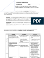 reflection tool part 1 collaborative implementation rubric form