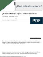 ¿Cómo Saber Qué Tipo de Crédito Necesitas_ - Forbes México